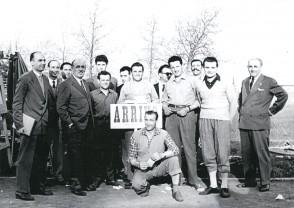 Angelo Barcella con i colleghi al velodromo.