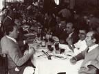 Angelo Nittoli a pranzo con i colleghi.