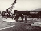 Il Presidente Magrì e i suoi collaboratori in visita al nuovo impianto in costruzione.