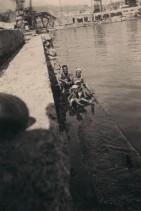 Ritratto della famiglia Beltramelli al mare.
