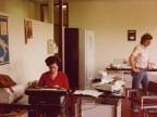 Franca Fiorendi al lavoro negli uffici del Centro tubi in resine.