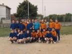Graziano Cortesi e i colleghi al torneo di calcio aziendale.
