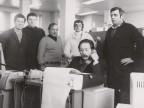 Giuseppe Lardo insieme ai colleghi del laboratorio.