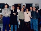Giuseppe Lardo e i colleghi festeggiano il suo pensionamento.