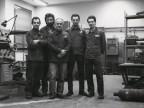 Giacomo Seghezzi con i colleghi dell'officina collaudo materiali.