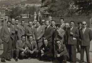Giovanni Solivani in gita con i colleghi.