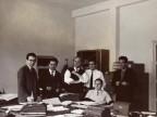 Giuseppe Torri con i colleghi dell'ufficio del personale.