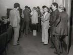 Gisbero Ianni con i colleghi degli uffici aziendali.