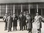 Leandro Carboncini con i colleghi durante un convegno.