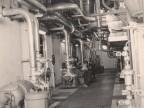 Annibale Quadri nella cabina di comando della centrale elettrica.