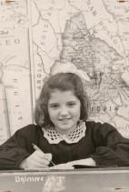 Ludovica Cividini alla scuola elementare.