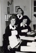 Maria Natali con le colleghe della foresteria aziendale.