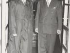 Giovanni Rossi con un collega.