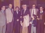 Pasquale Farella con i colleghi alla festa del Gruppo Lavoratori Anziani.