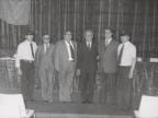 Pasquale Farella con i colleghi alla festa per il Gruppo Lavoratori Anziani.