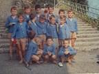 Silvio Cattaneo con i compagni della colonia alpina Mario Garbagni.