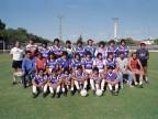 Squadra di reparto al torneo di calcio aziendale.