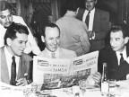Bruno Pagliai, primo presidente dell'azienda, durante il pranzo d'inaugurazione.