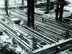 Cantiere per la costruzione delle fondamenta dell'acciaieria.