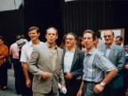 Emilio Renato Cattaneo con i colleghi durante un evento aziendale.