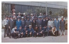 Turno C dell'impianto bobine. 1987