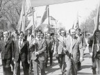 Dimostrazione durante la festività del 1° maggio. 1979