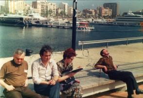 La Barcelona pentru receptia actionarilor electrice Ansaldo. Mai 1995