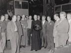 Monsignor Aldo Forzon in visita allo stabilimento.