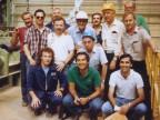 Team Dalmine e dirigenti Italimpianti per l'avviamento del tubificio russo.