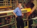 Severo Ravasio nel reparto di laminazione del tubificio russo