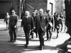 Il ministro dell'interno Mario Scelba in visita. 1952