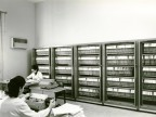 Impiegate a lavoro nell'infermeria. 1964