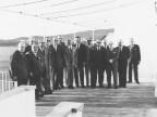 Dirigenti in visita alla villa della Cittadella. 1965