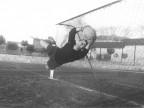 Calcio Piombino. Il portiere in azione. 1950