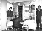 Tecnici alla centrale telefonica. Anni '60