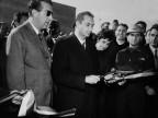 Il presidente del Consiglio Aldo Moro in visita. Anni '60