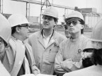 Giornalisti de Il Tirreno in visita. 1987