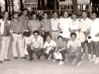 Gruppo di tennisti del Circolo aziendale.
