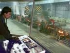 Cabina di controllo del treno medio piccolo.