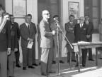 Scuola Tecnica Enrico Rocca. Visita del ministro del lavoro. Anni '60