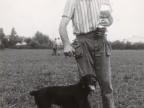 Premiato della gara di caccia con cane.