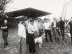Partecipanti alla gara di caccia con cani.