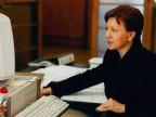 Teresa Gaini in ufficio.
